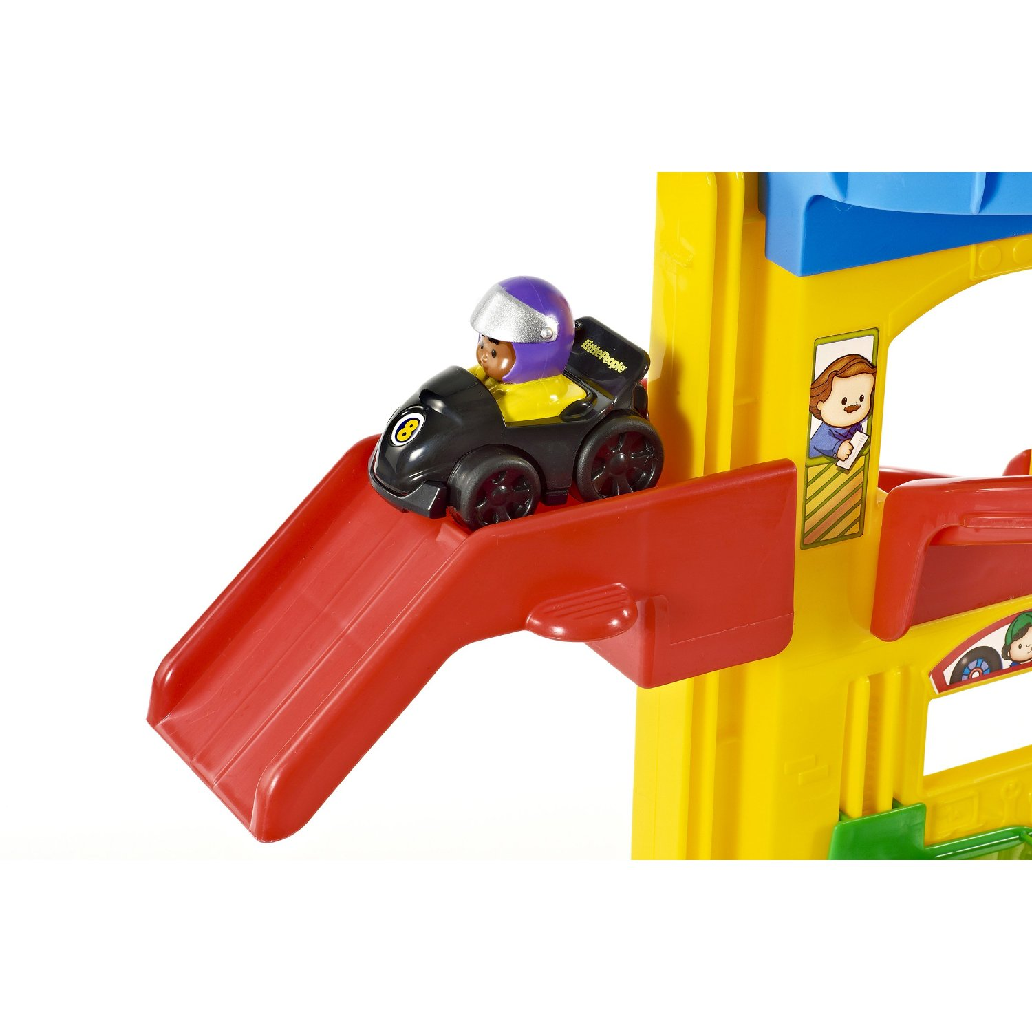fisher-price little people wheelies stand n play rampway 2